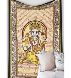 indian godess good luck ganesha hippie tapestry