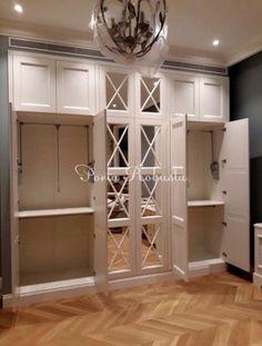 Ideas Home Office Storage Cupboards Spare Bedroom Closets, Bedroom Built Ins, Bedroom Closet Design, Bedroom Wardrobe, Wardrobe Design, Closet Designs, Interior Design Living Room, Neoclassical Interior, Bedroom Cupboards
