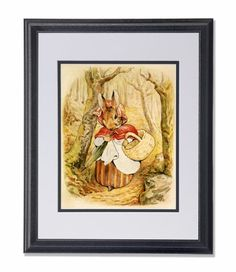 Beatrix Potter The Tale Of Peter Rabbit Cottontail Kids Room Picture Double Matted (white over black) Framed Art Print by Art Prints Inc, http://www.amazon.com/dp/B009ZCFPTU/ref=cm_sw_r_pi_dp_Y0mRqb11BSHGN