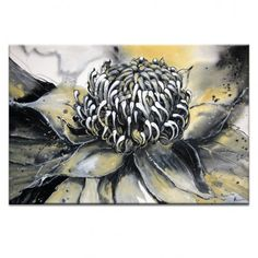 White Waratah by Olena Kosenko Graphic Art Wrapped on Canvas Artist Lane Painting Prints, Canvas Prints, Paintings, Nature Scenes, Print Artist, World Cultures, Home Art, Wrapped Canvas, Graphic Art