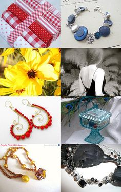 Lovely treasury featuring our Brabonts Red fat quarter fabric bundle