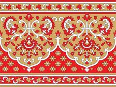 Border Pattern, Border Design, Lace Design, Pattern Art, Pattern Design, Mandala Dots, Mandala Design, Textile Prints, Textile Design