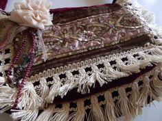 Velvet gypsy purse with vintage trim by bodaciousbetsy on Etsy