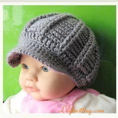 PATTERN – Crocheted Newsgirl Beanie — Cap 10 $4.99