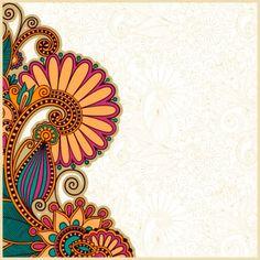 Colorful Paisley Pattern on Gold Indian Wedding Invitation Hindu Wedding Cards, Indian Wedding Invitation Cards, Wedding Invitation Background, Wedding Invitation Card Design, Wedding Background, Indian Invitations, Invitation Wording, Invite, Unique Invitations