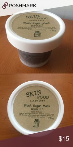 Skin Food Black Sugar Mask New never used or open! Food Therapy, Vitamins For Skin, Skin Food, Healthy Skin, Beauty Hacks, Skin Care, Sugar, Fruit, Makeup