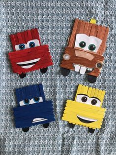 Pop Stick Craft, Popsicle Stick Crafts, Popsicle Sticks, Craft Stick Crafts, Disney Crafts For Kids, Disney Diy, Diy For Kids, Cars Preschool, Preschool Crafts