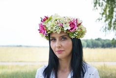 flower crown hydrangea crown photo props hair by mamwene on Etsy