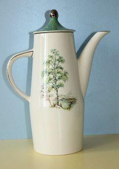 PALLISSY  Coffee Jug Silver Birch pattern   #CoffeePots