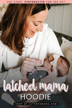 The Latched Mama Heavy Hoodie Breastfeeding Fashion, Breastfeeding Problems, Breastfeeding Clothes, Breastfeeding And Pumping, Nursing Clothes, Child Nursing, Breastmilk Storage, Nursing Tips, Breast Feeding