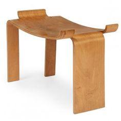 Mid-century Modern bench, 1950s, birch