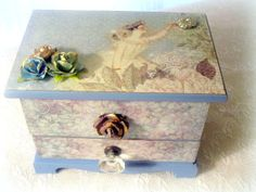 Your place to buy and sell all things handmade Girls Jewelry Box, Fairy Jewelry, Woodland Forest, Forest Fairy, Glass Drawer Pulls, Fairy Queen, Small Mirrors, Beautiful Fairies, Antique Glass