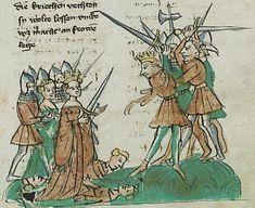 Manuscript     UBG Hs.232 Alsatian Troy Book Folio     131r Dating     1417 From     Alsace, France