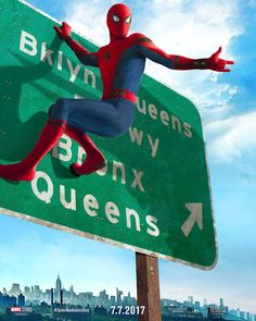 """Spider-Man Homecoming poster: """"Quickest way to get home."""""""