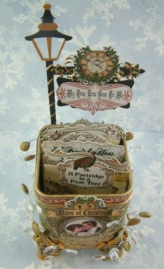 Altered Tea Tin.  These are absolutely gorgeous and hold ATCs!  Laura is so damned talented!!!