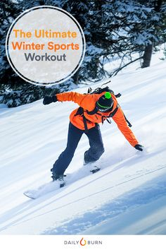 Finally, a HIIT workout to take your skiing, snowboarding and other winter sports to new heights. You'll be a winter warrior in no time. via @dailyburn
