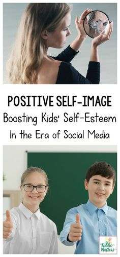 Developing a positive self-image can be an uphill battle for many children. This is especially true when they enter puberty. These self-compassion, mindfulness, and self-esteem resources can help. Perfect for parents, middle school counseling programs, so Positive Self Esteem, Positive Self Talk, Parenting Teens, Parenting Advice, Practical Parenting, Parenting Styles, Positive Parenting Program, Self Esteem Activities, Self Image