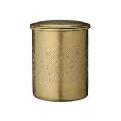 Discover the Day Birger Et Mikkelsen Carved Brass Can with Lid - 11.5x14.5cm at Amara