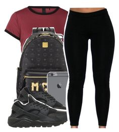 Untitled #347 by lkeyshia ❤ liked on Polyvore featuring MCM and NIKE