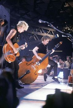 The Stray Cats Brian Setzer and Lee Rocker,