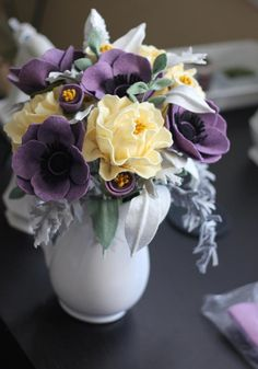 Felt Flower Wedding Bouquet. Custom Made For by TheFeltFlorist