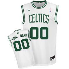 adidas Celtics Personalized Revolution 30 Replica Home Jersey