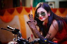 stylist photography on the bike #PhotoShoot, #MehendiFunction