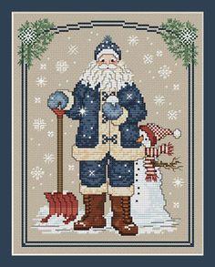 Snowflake Santa   SUE HILIS desings