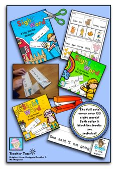 FREE!  Take a look at 2 sets of sight word flip books for spring and summer.  Scroll to the bottom to download a sample, farm-themed set for FREE!
