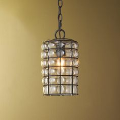 Check out Wire Fasciati Glass Cylinder Pendant from Shades of Light