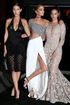 Bella Hadid, Barbara Palvin, and Stella Maxwell - Celebrities at Paris Fashion Week 2015