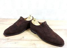 #Church cheaney men's #brown suede full #brogues shoes -  uk 6 f  us 7 f eu 39.5 ,  View more on the LINK: http://www.zeppy.io/product/gb/2/191869076405/
