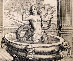 DE DIOSAS Y HADAS: El hada Melusina en su baño.