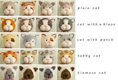Cat heads, beautiful new designs for the clever lady at Little Cotton Rabbits!!