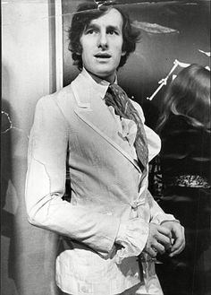 Fashion designer Michael Fish in 1969. The classic fashion brand behind the 'kipper' tie, whose clothes were worn by David Bowie and Mick Jagger, is to be re-launched for a new generation of men in 2016. Mr Fish was a popular shirt maker and designer in the swinging 60s and the 1970s, creating flamboyant Austin Powers-style outfits (follow minkshmink on pinterest)
