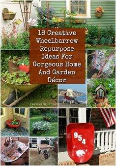 18 Cool Wheelbarrow Repurposing Ideas For Gorgeous Home And Garden Décor 18 Cool Wheelbarrow Repurposing Ideas For Gorgeous Home And Garden Decor
