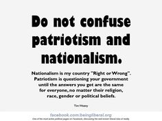 I am in the middle of a research paper about Nationalism and Patriotism?
