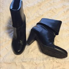 Ankle black booties Like brand new!  Would look great with leggings or rolled up jeans. Connie Shoes Ankle Boots & Booties