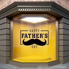 Happy Father's Day Shop Window Sticker Retail Store Display Fathers Day Vinyl Decal