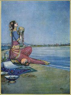 "Mystical Vintage Mermaid Art ""A Song of the English"" by Rudyard Kipling, illustrated here by William Heath Robinson (English, Walter Crane, Vintage Mermaid, Mermaid Art, Mermaid Paintings, Tattoo Mermaid, Edmund Dulac, Heath Robinson, Art Nouveau, If Rudyard Kipling"
