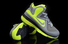 buy online 2b4dc e357d Lebron 9 Kids Dark Grey Black Volt Blue Converse Shoes, Nike Fashion,  Sneakers Fashion