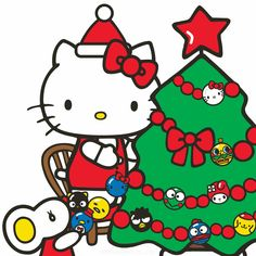 Source: hellosanrio(twitter). Hello Kitty Christmas, Hello Kitty Birthday, Merry Little Christmas, Xmas, Hello Kitty My Melody, Sanrio Hello Kitty, Christmas Balloons, Halloween Witch Hat, Birthday Wallpaper