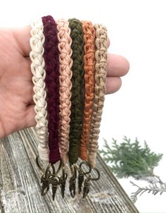 "100% soft pima cotton. Comfort around your wrist or in your hands. Sturdy 1"" keyring + lobster clasp. You Bag, Lobster Clasp, Knits, Thing 1, Bronze, Hands, Chain, Knitting, Antiques"