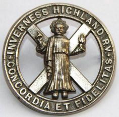INVERNESS HIGHLAND RIFLE VOLUNTEERS CAP BADGE