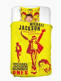 MICHAEL JACKSON Washable Duvet Cover and Pillowcase - YELLOW TWIN Euro 51,35
