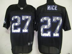 $25.00 NFL Jersey Baltimore Ravens Ray Rice #27 Black United Sideline