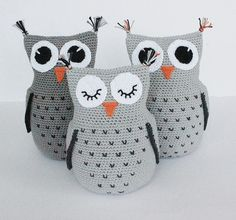 Educational and interesting ideas about amigurumi, crochet tutorials are here. Owl Crochet Patterns, Crochet Birds, Owl Patterns, Amigurumi Patterns, Crochet Animals, Crochet Pillow, Amigurumi Doll, Amigurumi Free, Crochet Projects