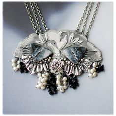 Swan Lake necklace by 6shadowsjewelry on Etsy