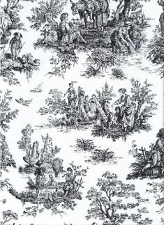 I have this fabric and am going to make kitchen curtains trimmed in red. My kitchen is about to get a facelift in black and red with rooster accents.