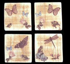 Wood Coasters Coasters Wood Coaster by SCWVintage on Etsy